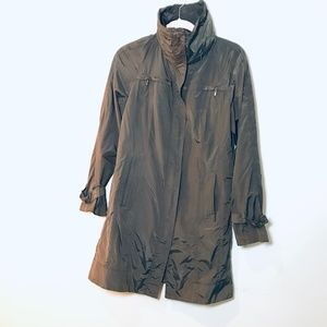 Cole Haan Raincoat - Mid thigh - Brown - Size M